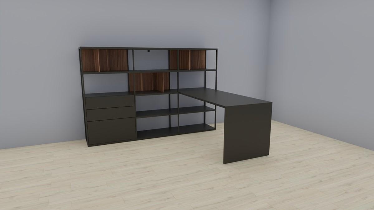 hülsta NOW! VISION Home Office Lösung Nr. 1 in der gespiegelten Ausführung #981023