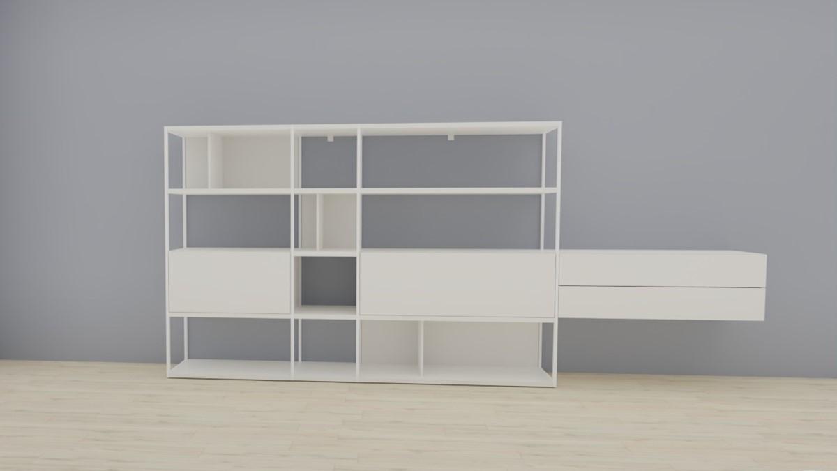 hülsta NOW! VISION Regalwand #980010 in Lack-weiß, OHNE Akzent