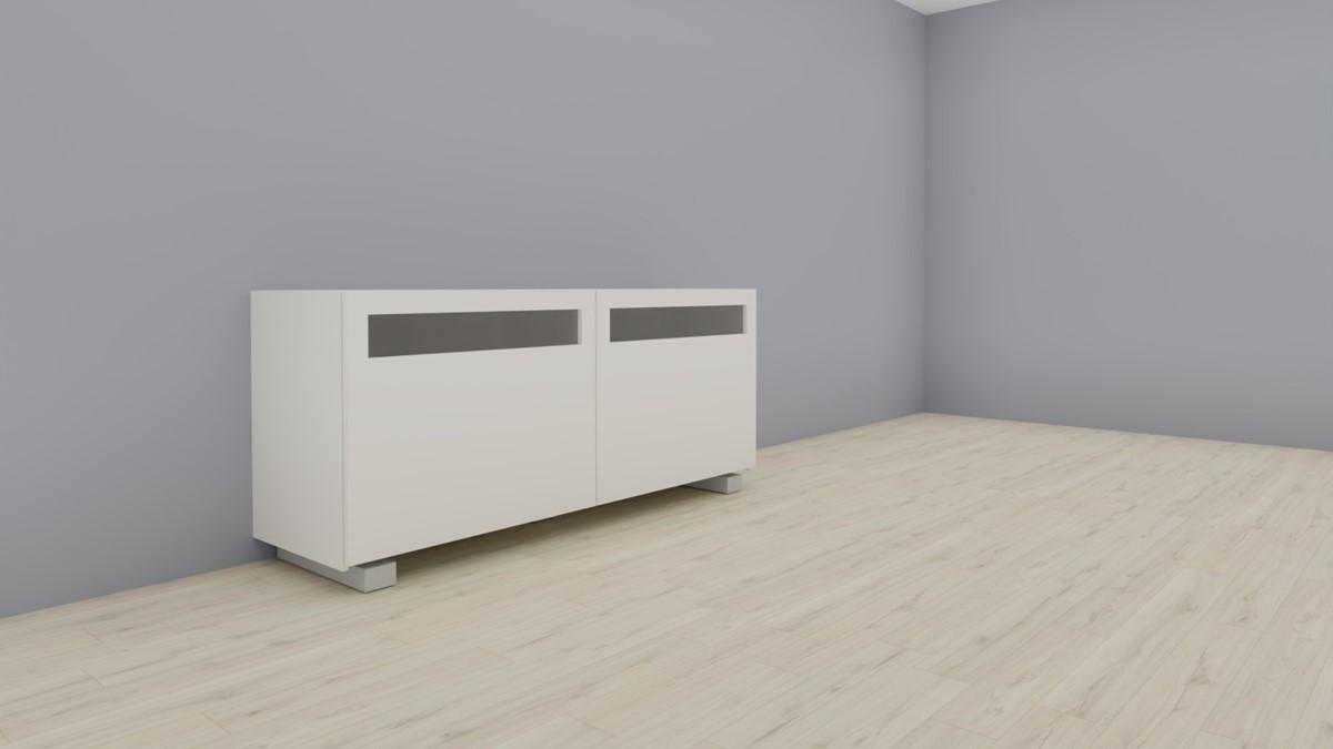 hülsta NOW! VISION Sideboard #1418 in Ausführung Front Lack-Hochglanz-weiß, Korpus Lack-weiß