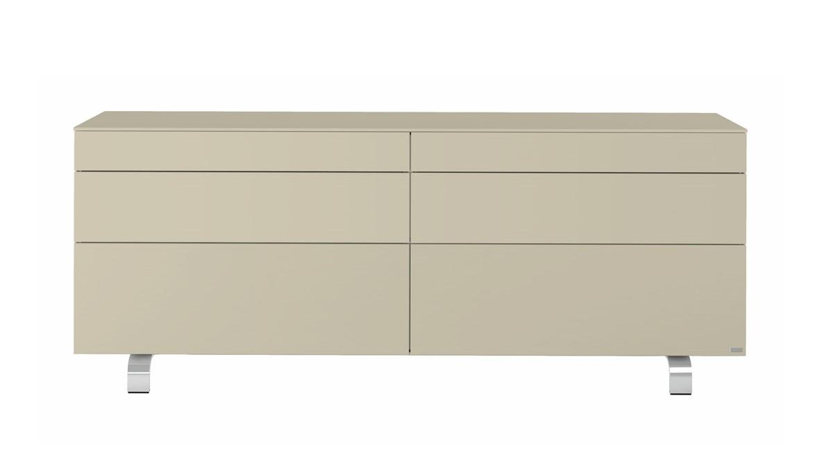 hülsta Neo Sideboard #980035 Lack-seidengrau - frontale Ansicht