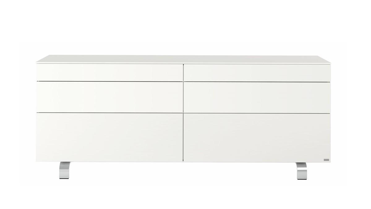 hülsta Neo Sideboard #980035 in der Ausführung Lack-reinweiß - frontale Ansicht