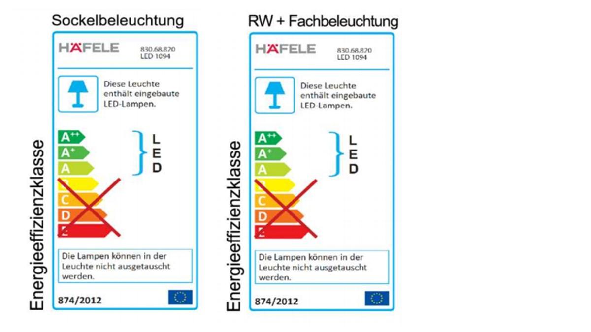 SCHRÖDER Kitzalm PUR Highboard mit echter Baumrinde - Hinweise zur Energie-Effizienz-Klasse