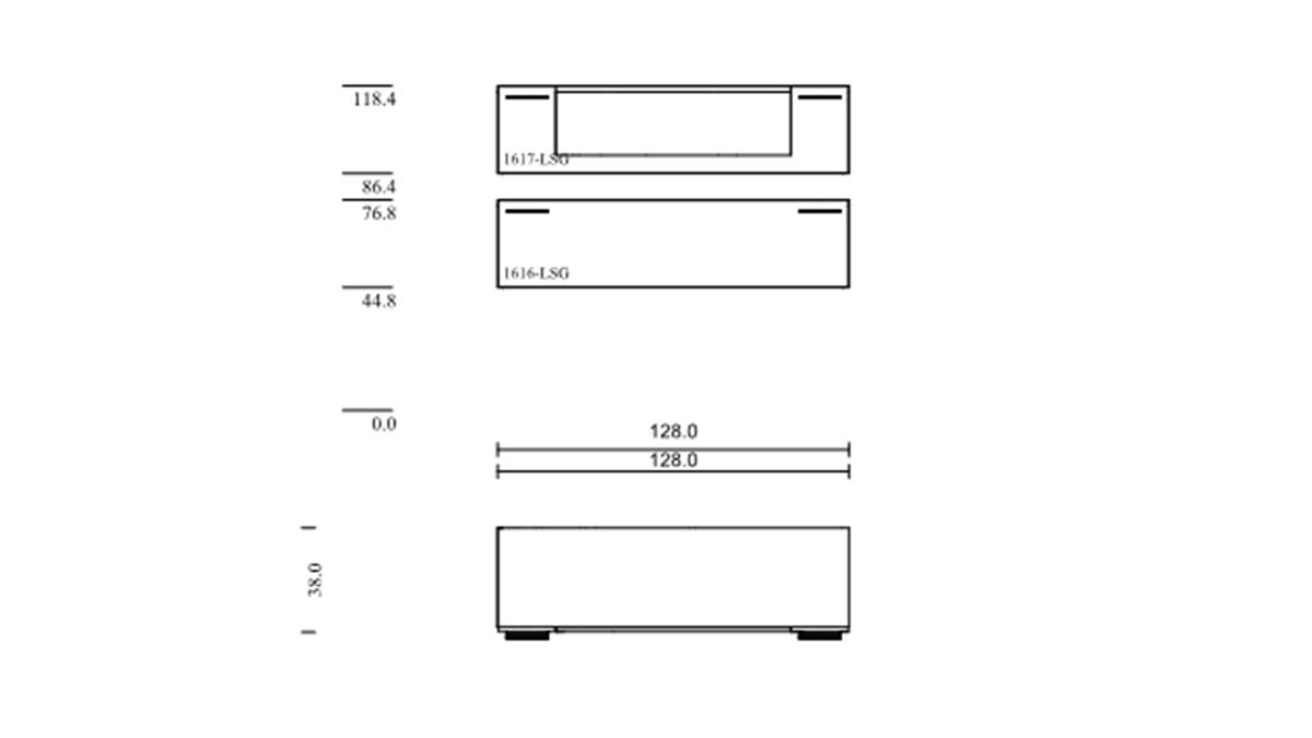 SCHRÖDER Kitzalm Pur Hänge-Elemente im 2er Set - technische Zeichnung mit Maßen