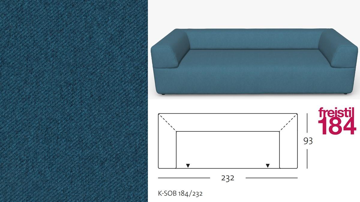 freistil 184 Sofabank im Stoff-Bezug #1076 grünblau