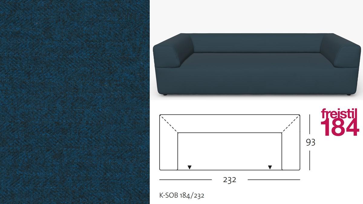 freistil 184 Sofabank im Stoff-Bezug #2045 grünblau