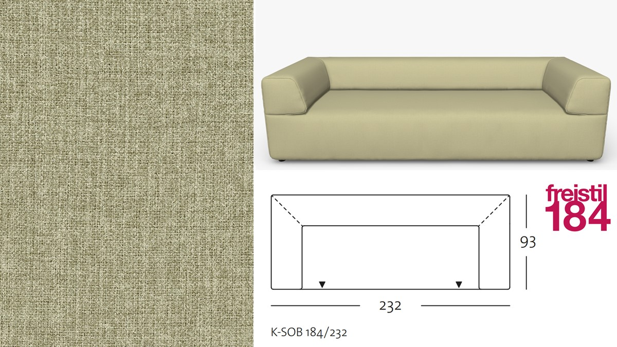 freistil 184 Sofabank im Stoff-Bezug #2063 schilfgrün