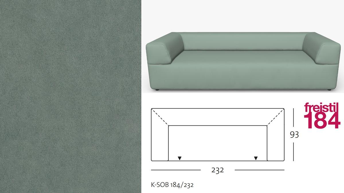 freistil 184 Sofabank im Stoff-Bezug #3101 schwarzgrün