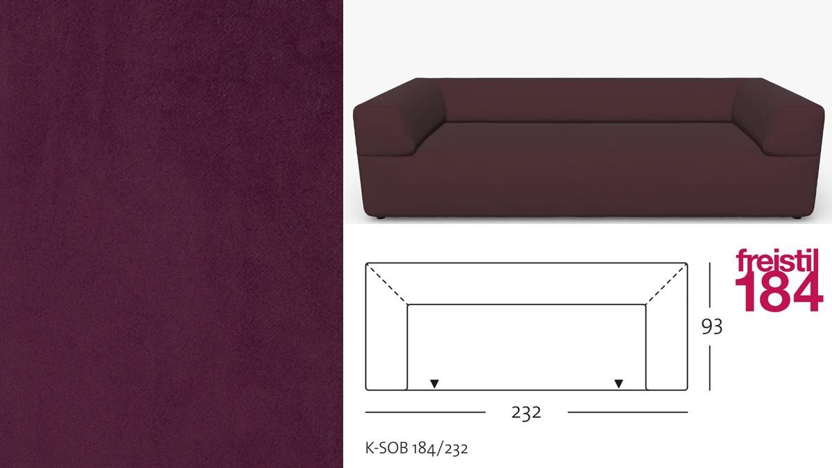 freistil 184 Sofabank im Stoff-Bezug #3107 purpurviolett