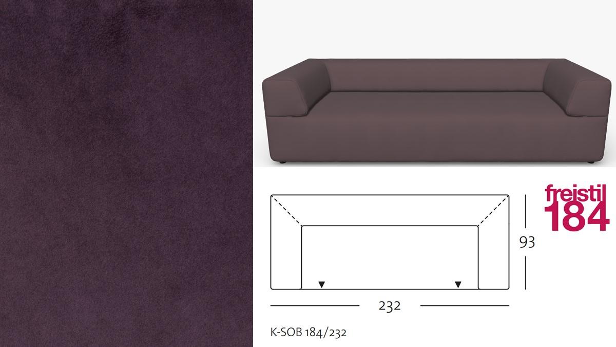 freistil 184 Sofabank im Stoff-Bezug #3108 schwarzrot