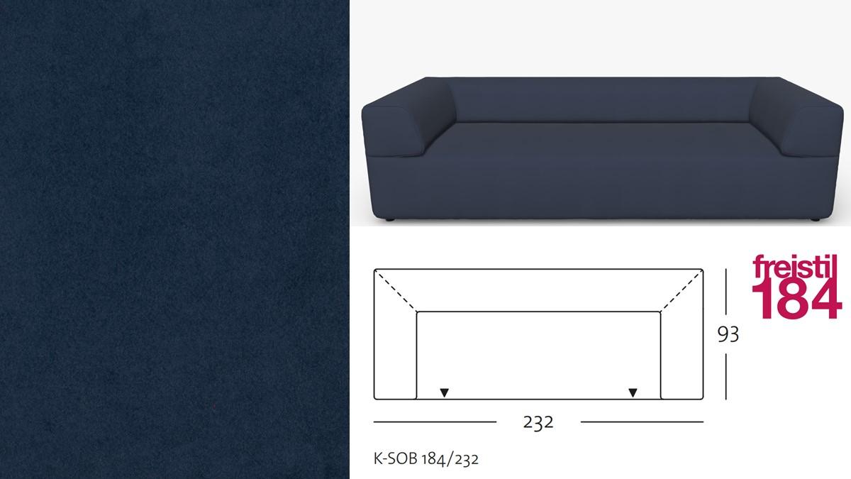 freistil 184 Sofabank im Stoff-Bezug #3109 schwarzblau
