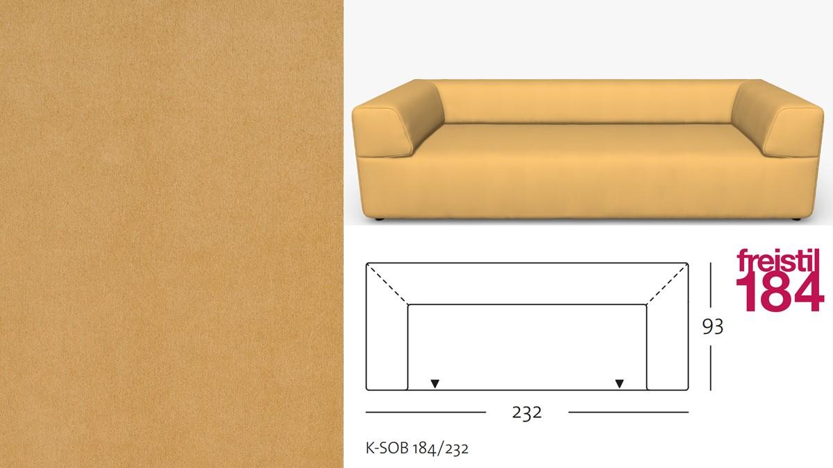 freistil 184 Sofabank im Stoff-Bezug #3110 sandgelb