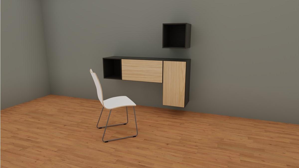 hülsta NOW! HOME OFFICE Bundle Nr. 2 in Ausführung NOW TO GO mit Fronten in Natureiche und S20-2 Stuhl