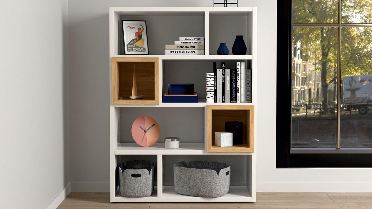 Die NOW! HOME OFFICE Kombination #980019 bietet Dir jede Menge Stauraum, den Du auch auf zwei Räume verteilen kannst.