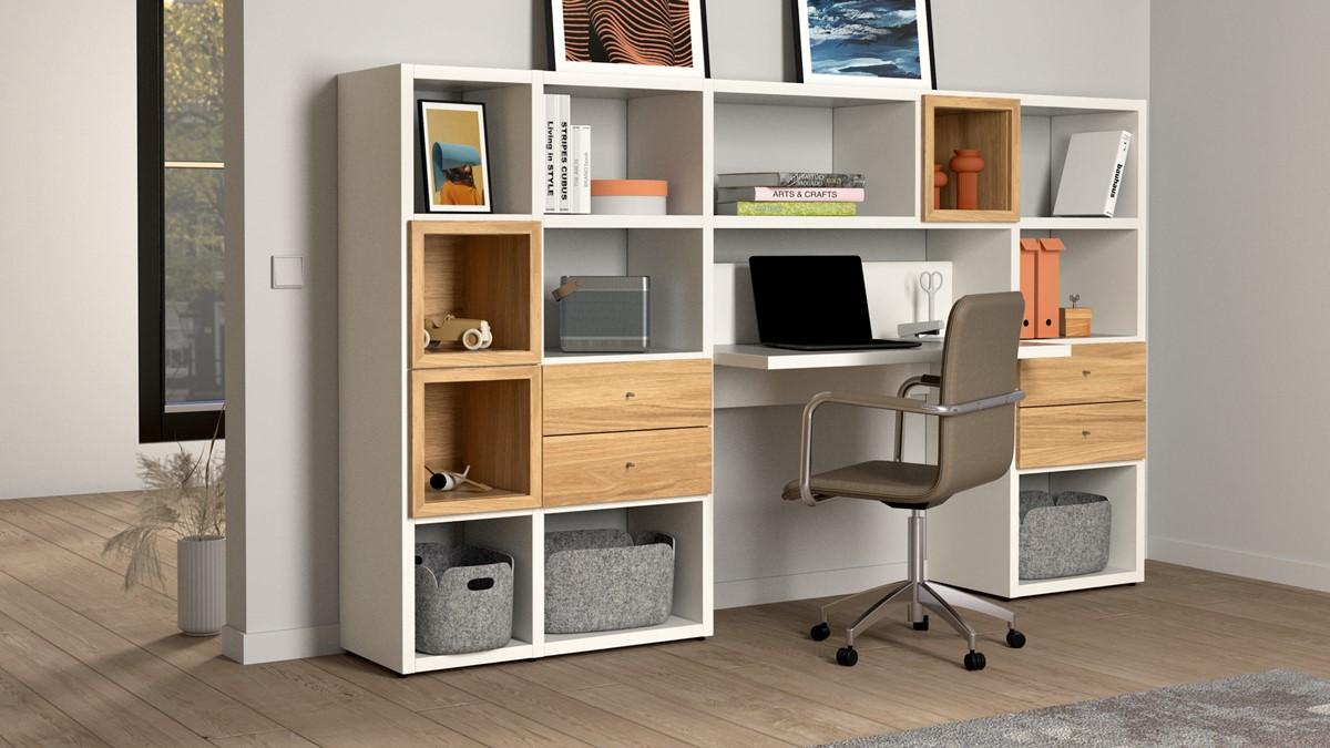 Die hülsta hülsta NOW! HOME OFFICE Vorschlags-Kombination #980019 kann anders arrangiert werden um so noch mehr Platz zu sparen.