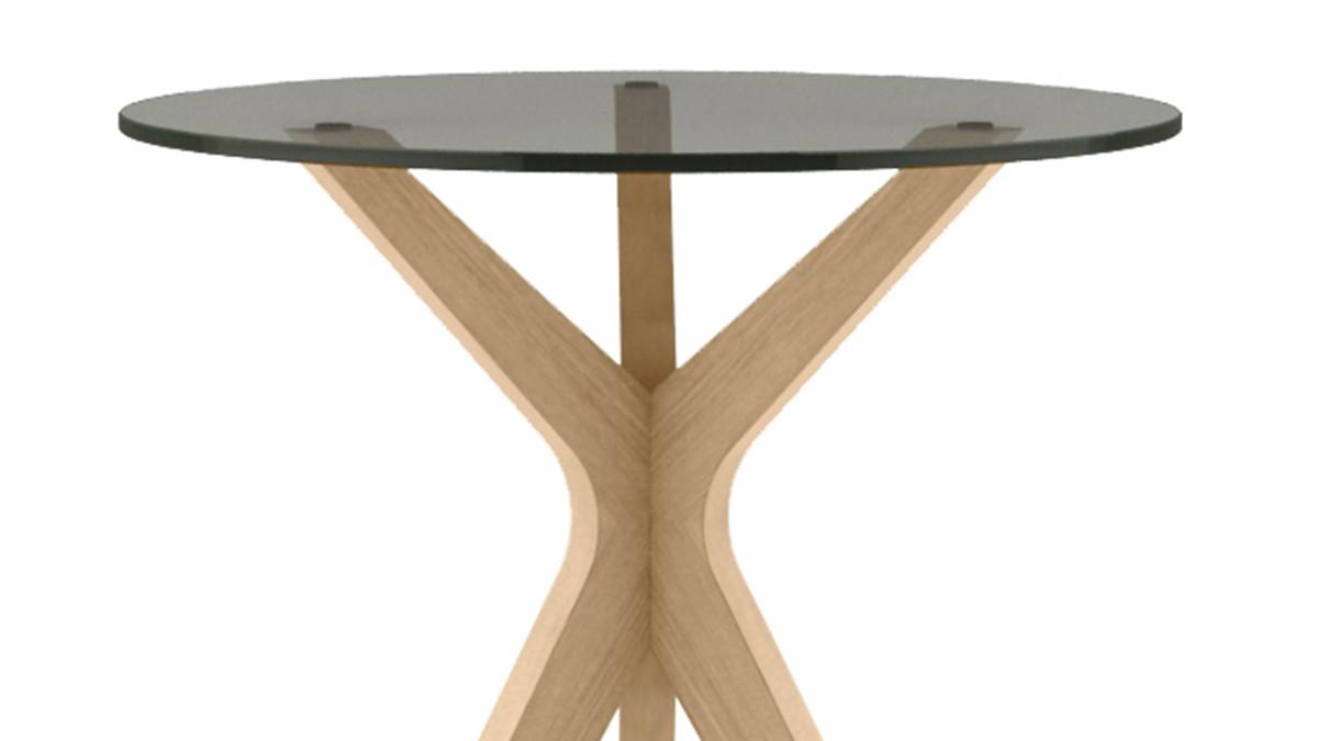 hülsta SOLID Beistell-Tisch in der Ausführung Eiche natur