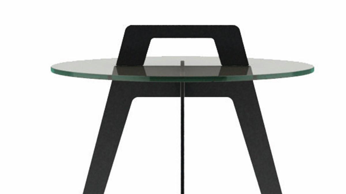 hülsta SOLID Beistell-Tisch mit Henkel-Griff in der Nahaufnahme
