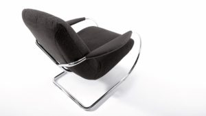 Das innovative Gestell ermöglicht dem KOINOR JINGLE Freischwinger-Sessel einen langen Federweg und dynamisches Sitzen