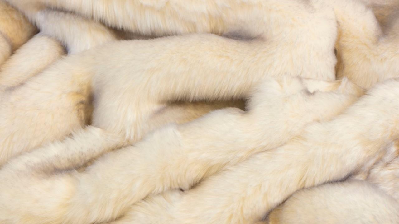 Die Kuscheldecke Polarfuchs stammt aus der Webpelz-Kollektion von Star Home Textil. Das bedeutet, dass es sich hierbei um Fell-Imitat handelt.