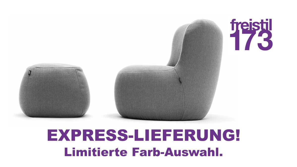 Express-Lieferung freistil 173 Bundle bestehend aus Sessel und Pouf
