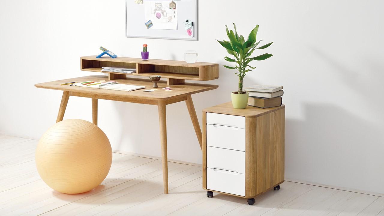 GAZZDA Stafa Schreibtisch im Set mit GAZZDA Ena Rollcontainer