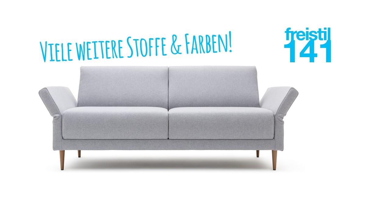Gestalte jetzt Dein eigenes freistil 141 Sofa mit verstellbaren Seitenteilen in der Breite 150 cm bzw. 188 cm.