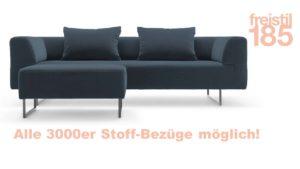 Gestalte jetzt Dein freistil 185 Set bestehend aus Sofabank, Polsterbank und 2 x Biesen-Rückenkissen