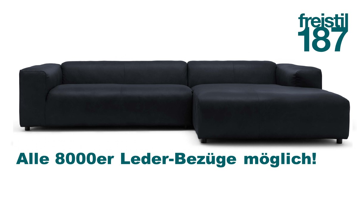 Gestalte jetzt Dein freistil 187 Sofa mit Longchair rechts im 8000er Leder