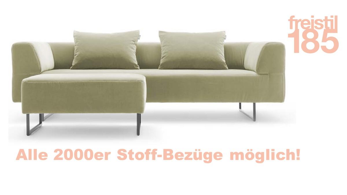 Gestalte jetzt Dein freistil185 Set bestehend aus Sofabank, Polsterbank und Biesen-Rückenkissen mit unserem freistil-Konfigurator