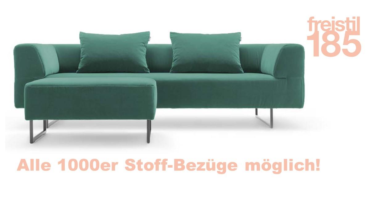 Gestalte jetzt Dein individuelles freistil 185 Set bestehend aus Sofabank, Polsterbank und 2 x Biesen-Rückenkissen