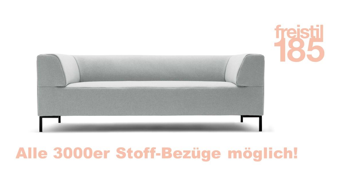 Gestalte jetzt Deine eigene freistil 185 Sofabank in der Breite 203 cm mit unserem freistil-Sofa-Konfigurator