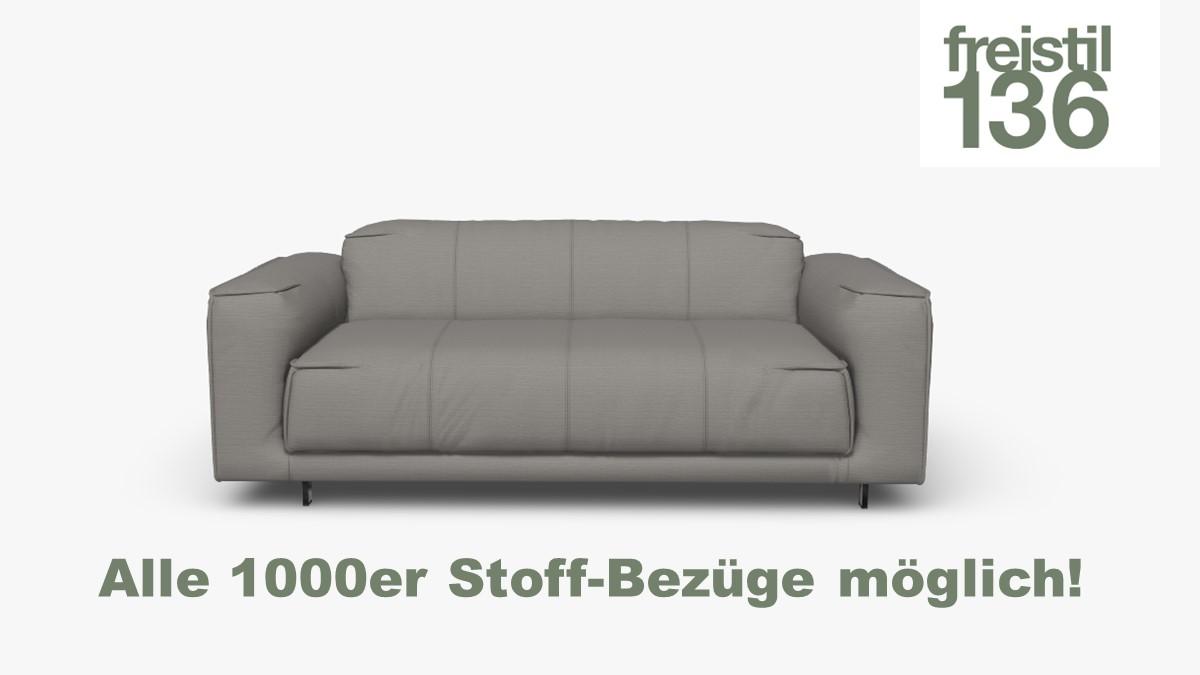 Gestalte jetzt Deine freistil 136 Sofabank 3-sitzig – Wähle aus verschiedenen 1000er Stoffen
