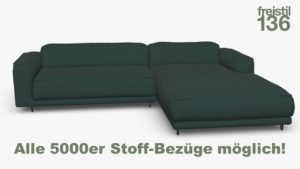 freistil 136 Sofa mit Longchair rechts - In allen 5000er Stoffen konfigurierbar
