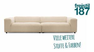 Konfiguriere Dein eigenes freistil 187 Sofa und wähle aus zahlreichen Stoff-Bezügen