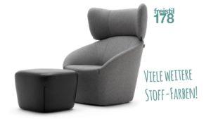 SET freistil 178 Sessel - MIT Kopfstütze und Hocker - jetzt online konfigurieren