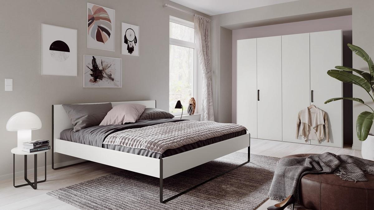 Schlafzimmer-Kombination hülsta NEO in Lack-reinweiß