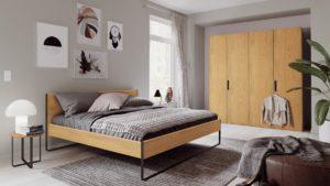 Schlafzimmer-Kombination hülsta NEO in Ausführung Natureiche
