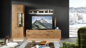 Schröder KITZALM PUR Wohnwand-Kombination Nr. 8 in Ausführung Kernwildasteiche natur gebürstet - jetzt zum Bestpreis im Markenmöbel-Onlineshop bestellen