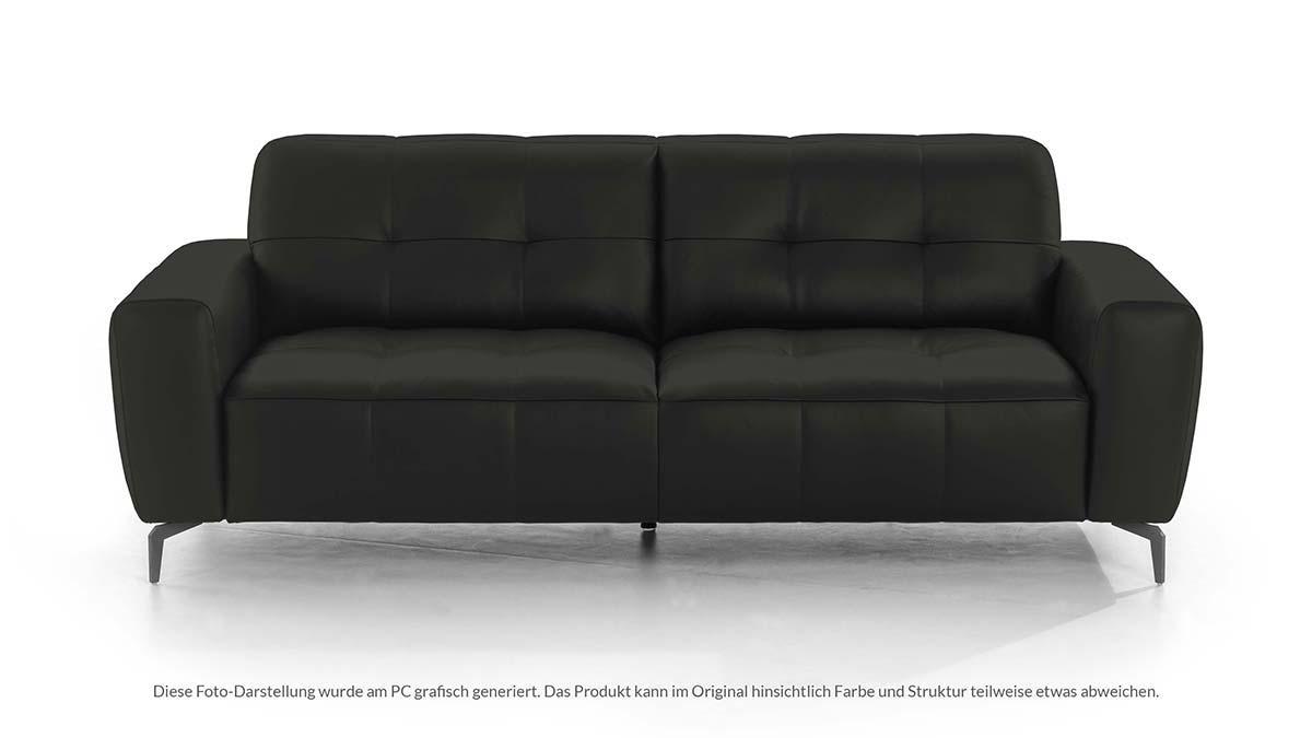 W. Schillig Sofabank WILSON in der Breite 218 cm konfiguriert im Leder-Bezug Z51-95