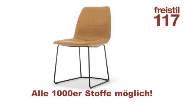 freistil 117 Stuhl in allen 1000er Bezugs-Stoffen konfigurierbar