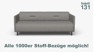 freistil 131 Sofabank B 192 cm im Alle 1000er Stoff-Bezüge möglich