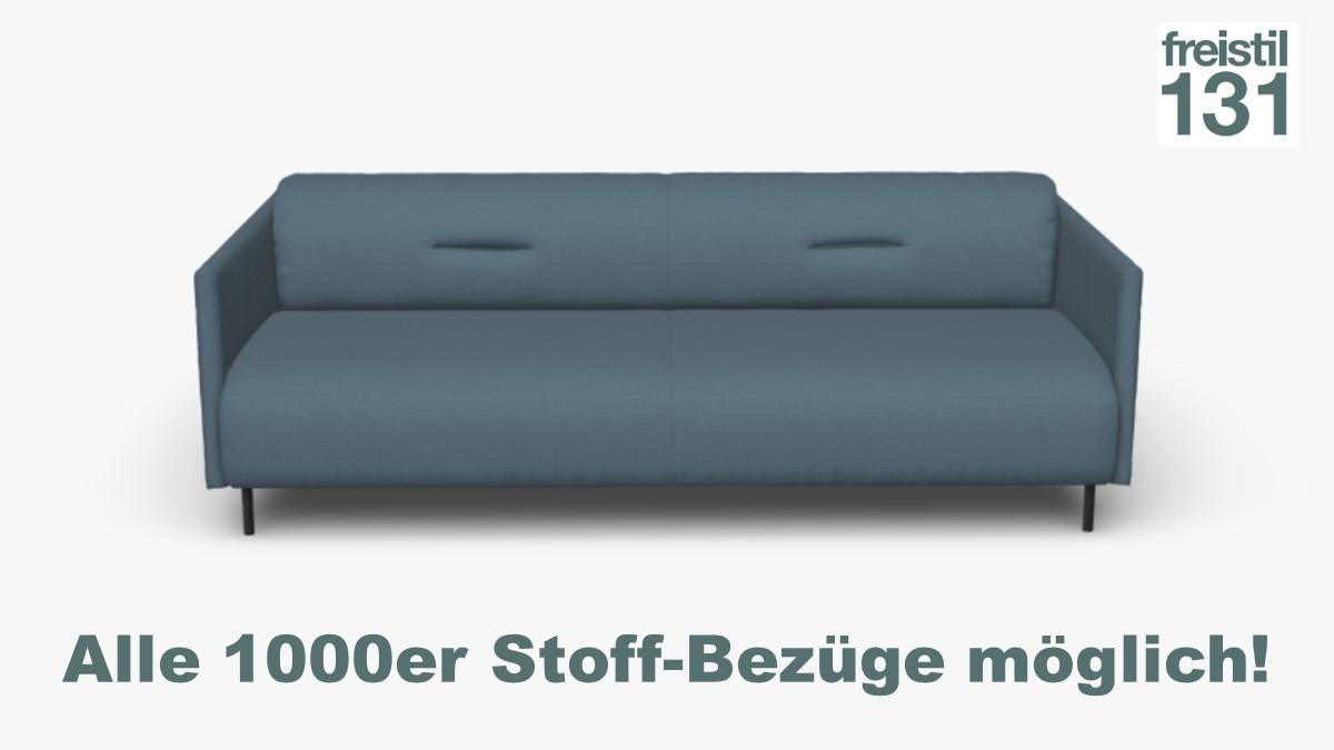 freistil 131 Sofabank B 212 cm im Alle 1000er Stoff-Bezüge möglich