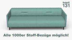 freistil 131 Sofabank B 232 cm im Alle 1000er Stoff-Bezüge möglich