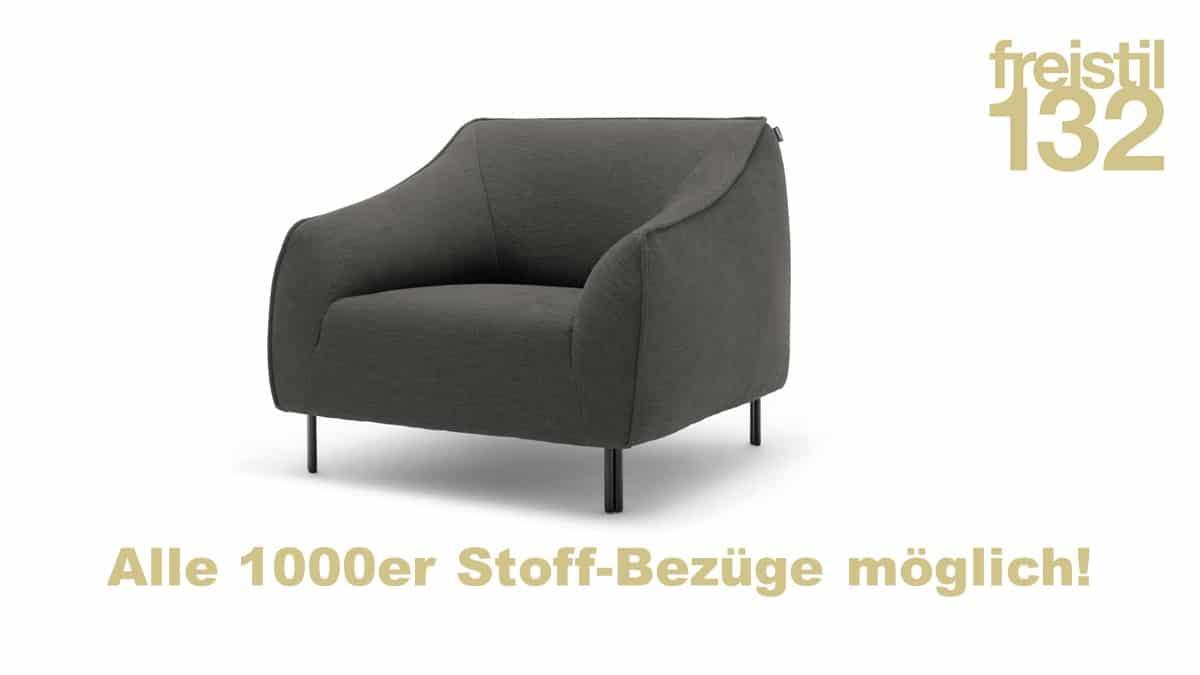 freistil 132 Sessel in allen 1000er Stoffen konfigurierbar