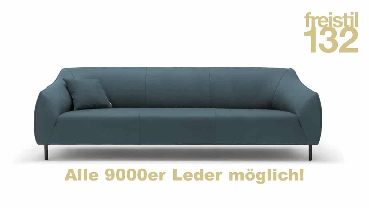 freistil 132 Sofabank jetzt in allen 9000er Leder-Bezügen konfigurierbar