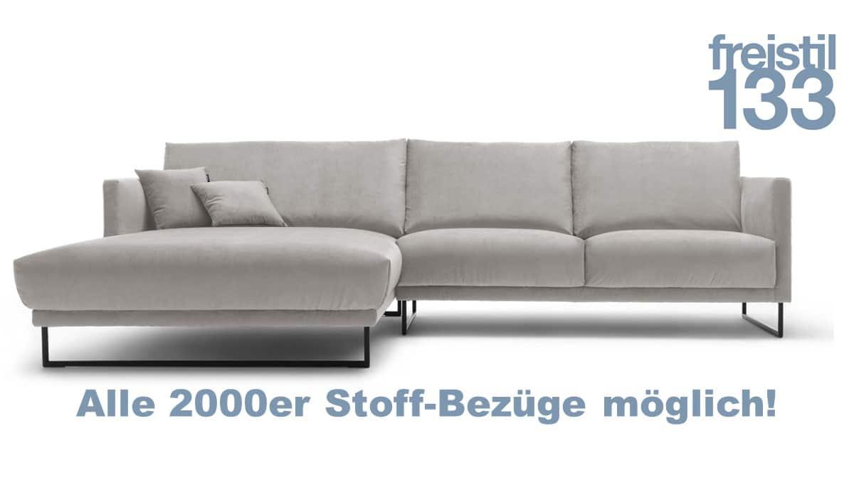 freistil 133 Sofa mit Longchair links