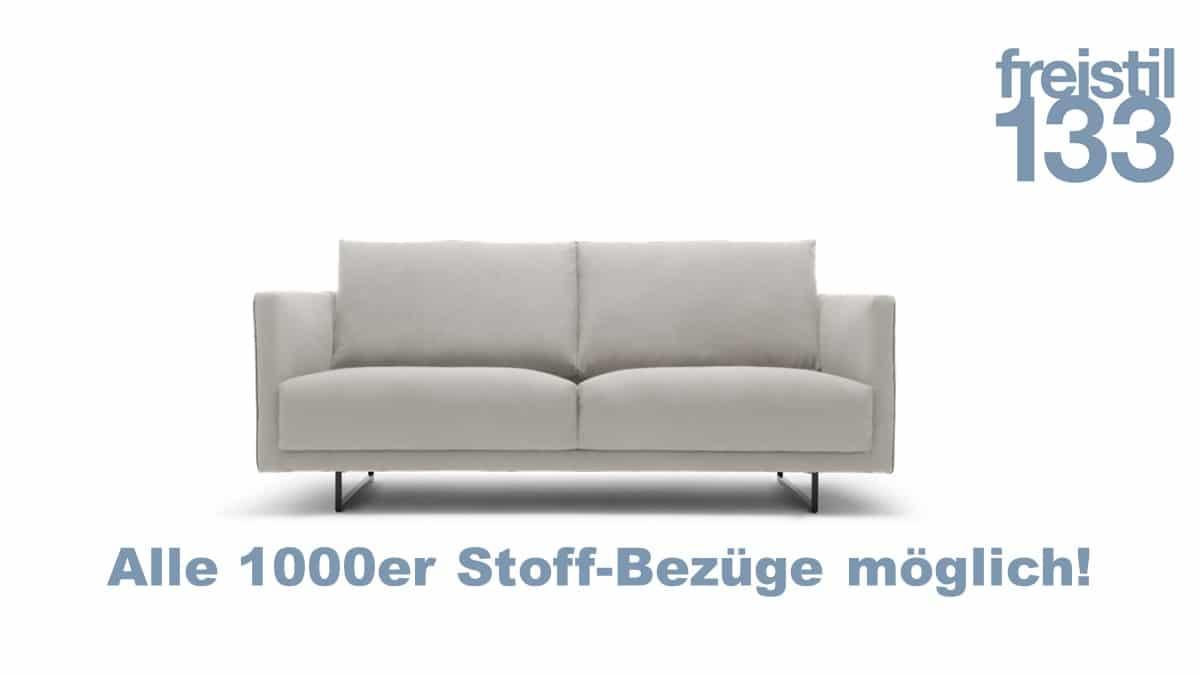 freistil 133 Sofabank in der Breite 182 cm in allen 1000er Stoff-Bezügen erhältlich