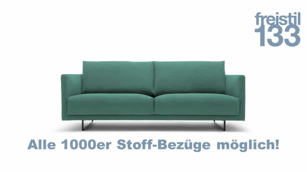 freistil 133 Sofabank in der Breite 202 cm in allen 1000er Stoffen
