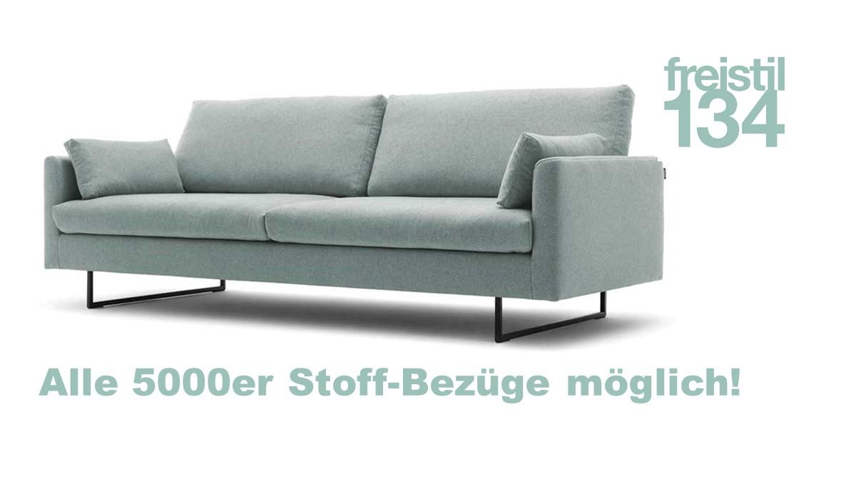 freistil 134 Sofa-Bank in der Breite 222 cm - 5000er Stoff