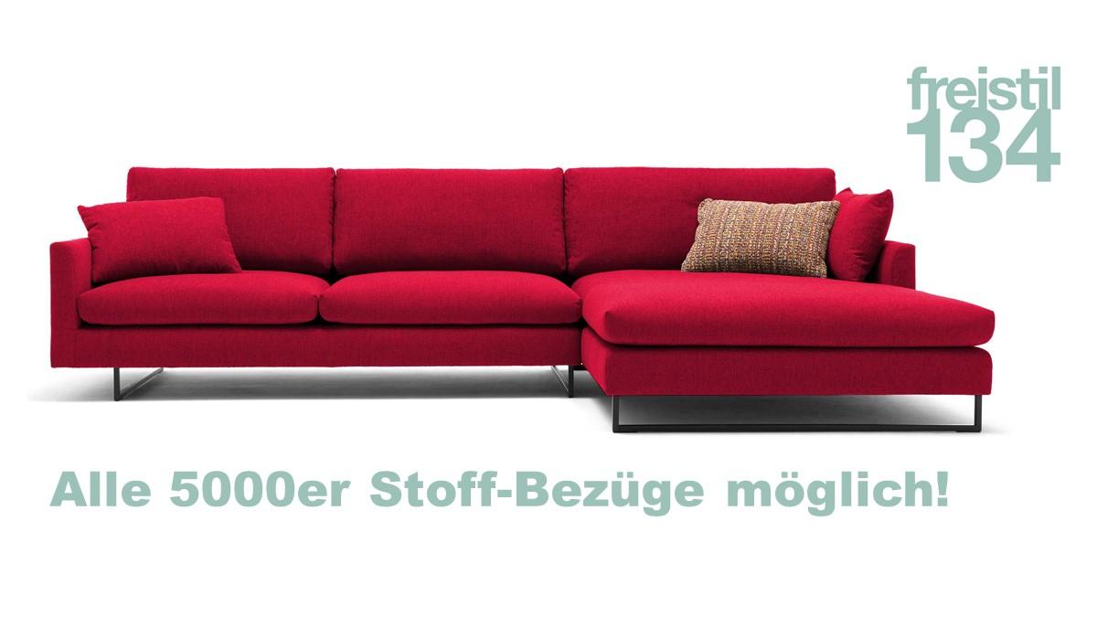 freistil 134 Sofa mit Abschlußsessel rechts - Alle 5000er Stoff-Bezüge möglich