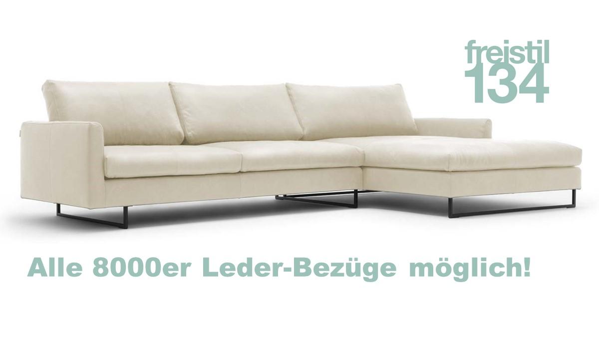 freistil 134 Sofa mit Longchair rechts jetzt im 8000er Leder konfigurieren